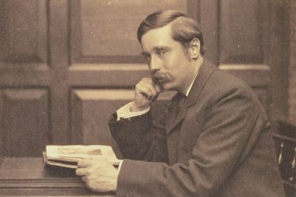 L'écrivain britannique H.G.Wells, père de la science-fiction contemporaine