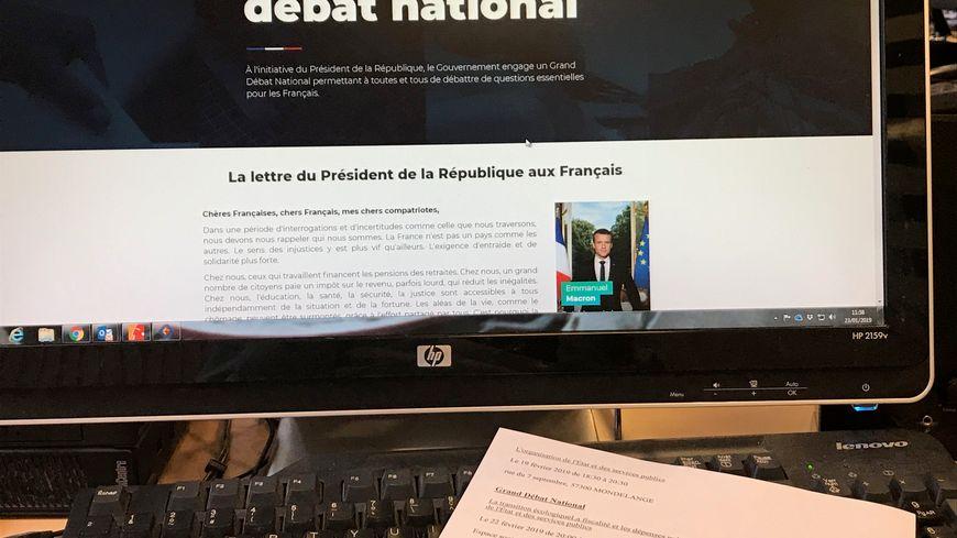 Il est possible de participer au grand débat national par internet