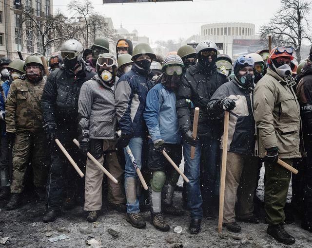 Kiev - rue Hrushevskoho - 22 janvier 2014 - 14h16
