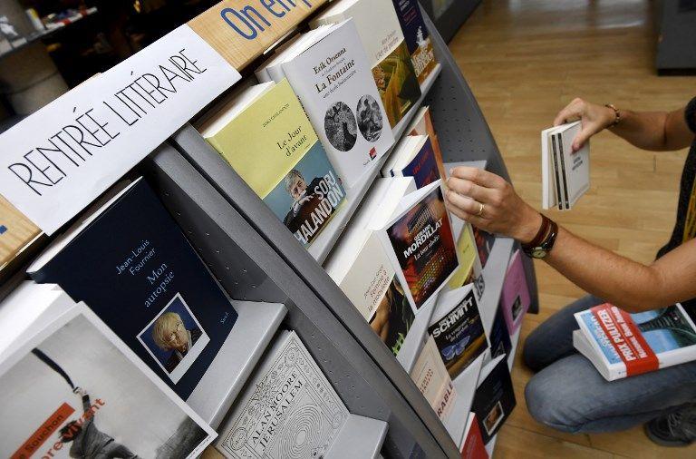 Rentrée littéraire dans une librairie en 2017