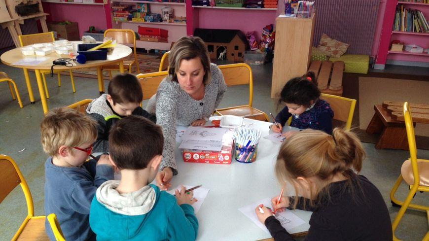 Cinq élèves de l'école Les Pitchouns à Molières dans le Lot