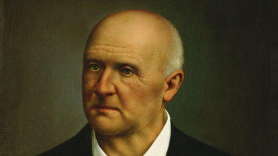 Anton Bruckner, portrait peint (détail) par Anton Miksel en 1893