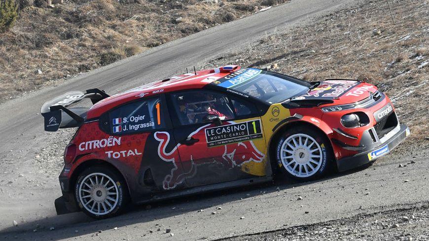 Le Français Sébastien Ogier est leader du rallye Monte-Carlo ce dimanche matin