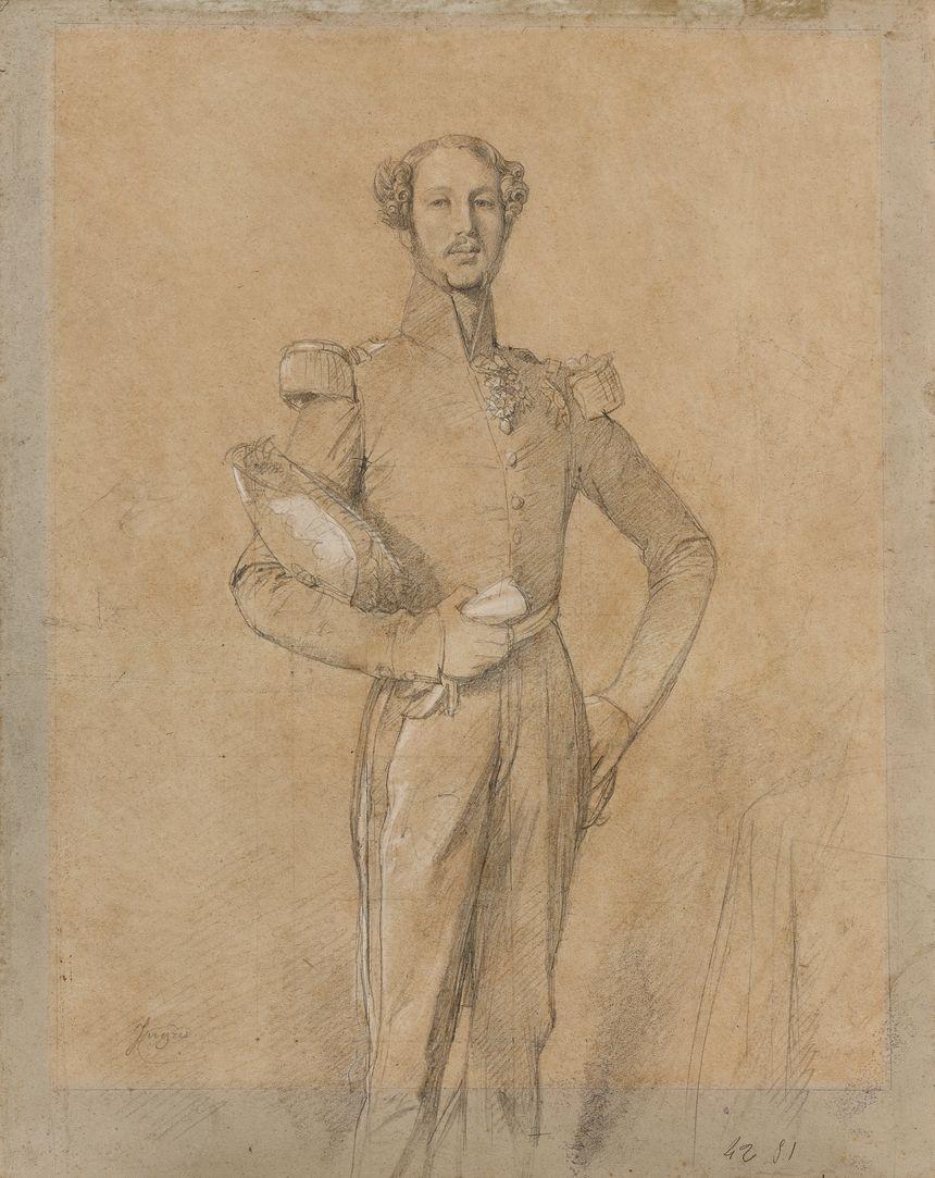 """Ferdinand-Philippe-Louis-Charles-Henri de Bourbon-Orléans,  le """"Duc Ferdinand"""" par Ingres"""