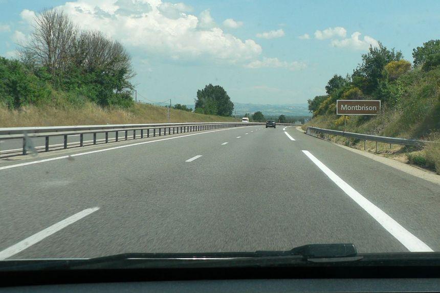 Autoroute A72 entre Veauchette  et Balbigny