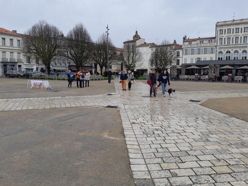 La place Colbert à Rochefort, où une partie des scènes des Demoiselles a été tournée.