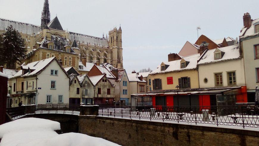 Le quartier saint leu sous la neige janvier 2019