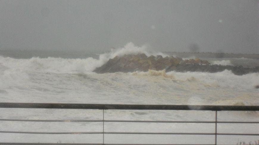 Le littoral angloye lors de la tempête Carmen l'an dernier