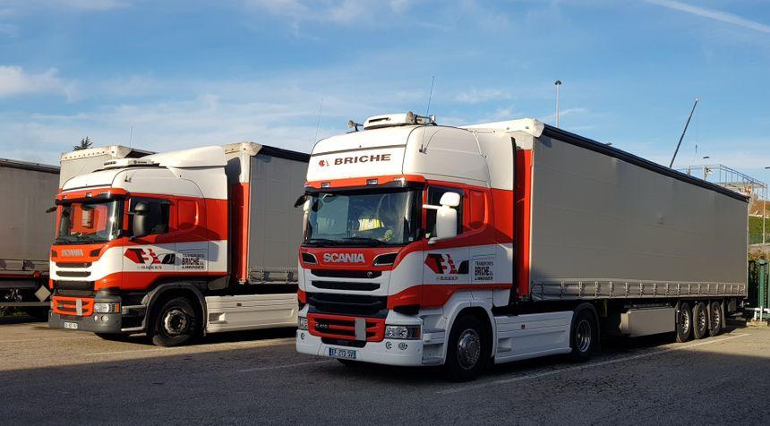 L' entreprise Briche compte 22 poids lourds pour le transport national