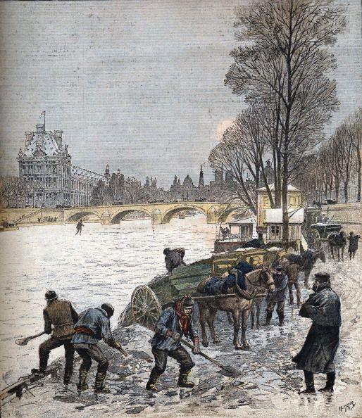 Les plus grosses chutes de neige à Paris