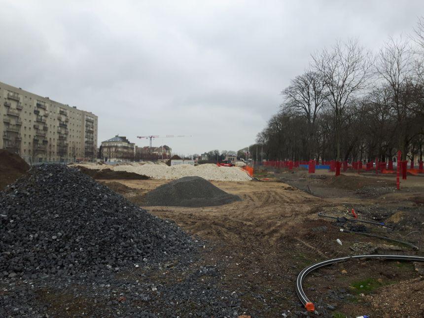 Gros chantier en cours sur les Promenades