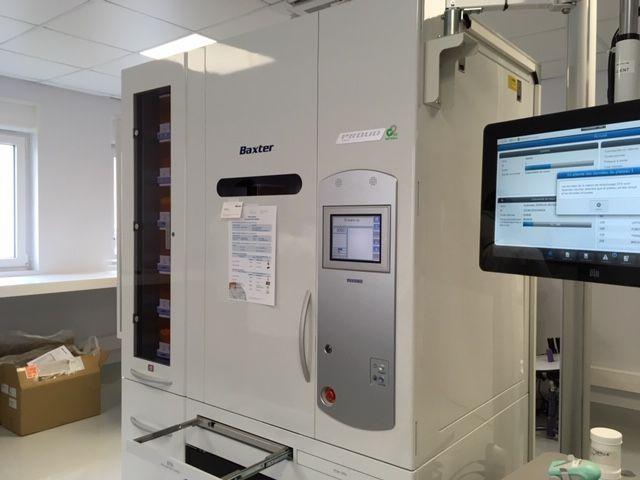 La pharmacie (qui s'occupe de 9 établissements) est dotée d'un nouvel automate ultra moderne