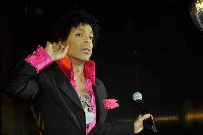 Prince, compositeur-interprète, multi-instrumentiste, réalisateur artistique et producteur américain de pop, de funk, de rock et de RnB, le 16 mars 2013 à Austin, Texas.