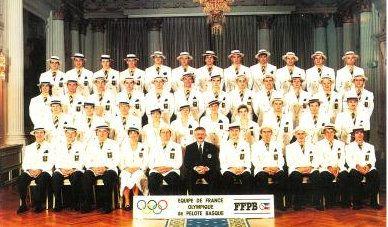 Délégation Française de pelote basque aux JO de Barcelone en 1992