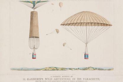Saut en parachute, 1802.