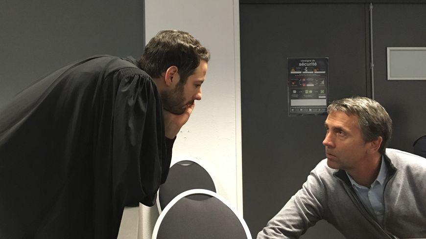 Christophe Blind avec son avocat Me Dami Le Coz