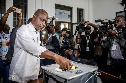 Le candidat d'opposition congolais Martin Fayulu lors du vote du 30 décembre