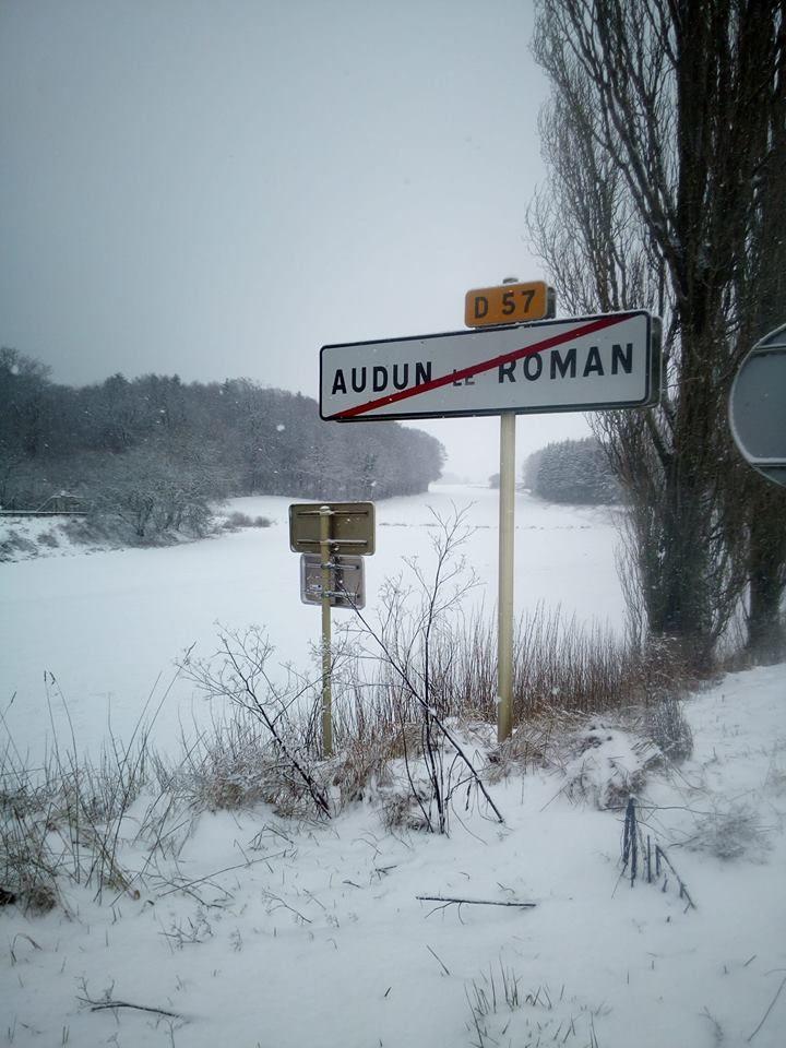 La neige ne s'arrête pas aux frontières d'Audun-le-Roman !