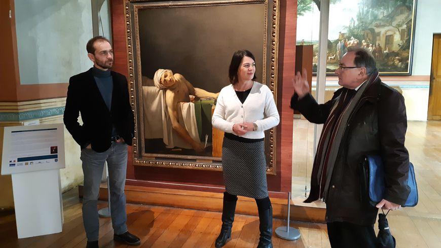 Nicolas Pottier, conservateur des musées de Sens, Véronique Frantz, adjointe à la culture, Bernard Brousse, président de l'office du tourisme