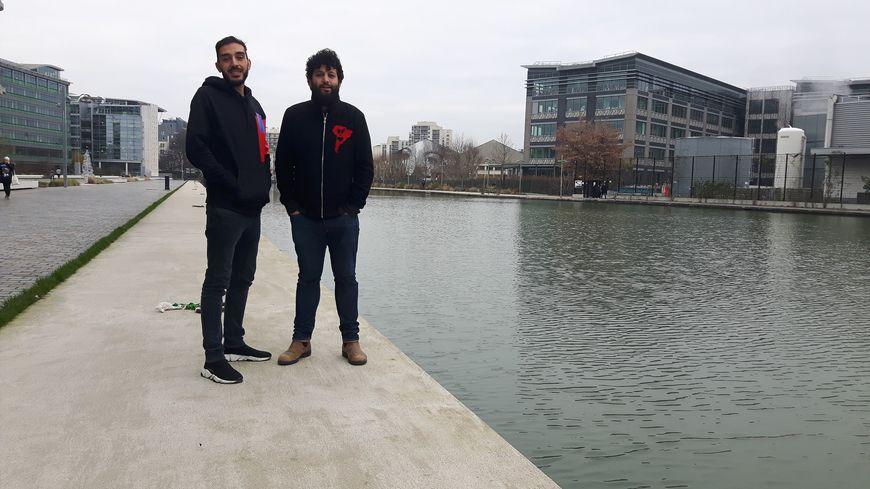 Nabil Habassi et Wael Sgahier, à Pantin.