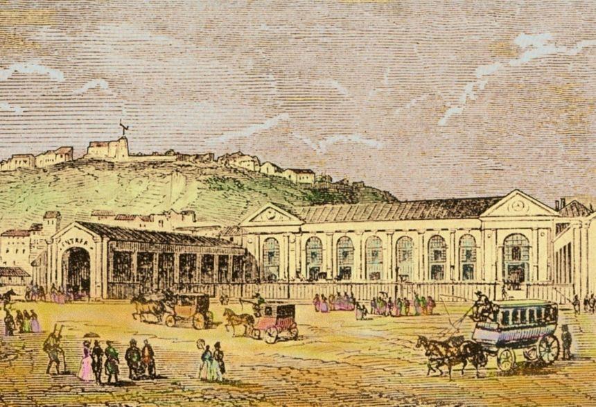 La Gare du Nord en 1946 à Paris