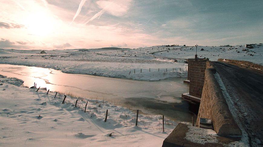 Le plateau de l'Aubrac sous la neige