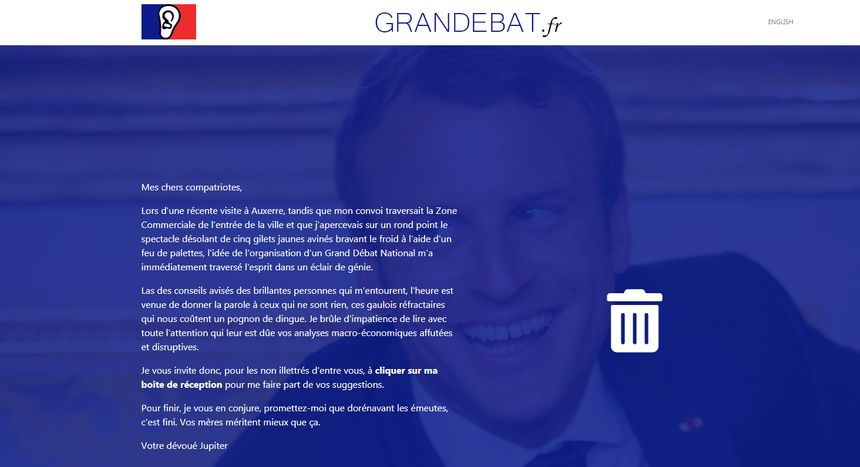 Un site pirate du grand débat national