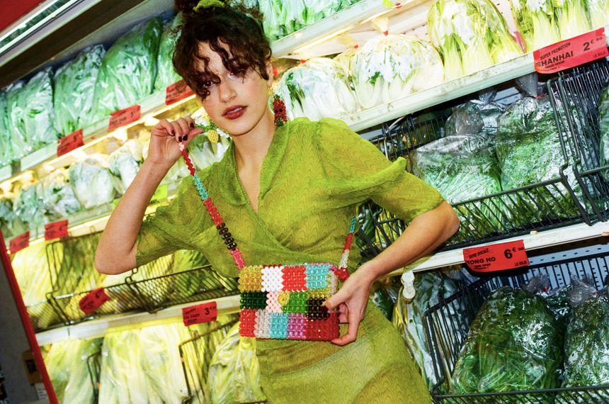 """Les vêtements de """"Maison Cléo"""", comme ce chemisier, sont vendus à 80% aux Etats-Unis."""