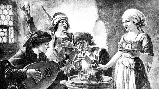 Trois musiciens dans une auberge