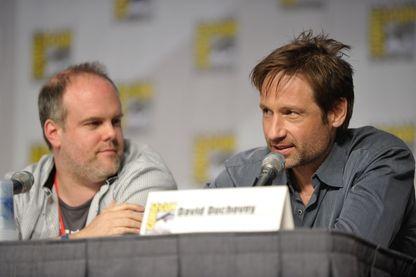Le créateur de Californication Tom Kapinos, et l'interprète du personnage de Hank Moody, David Duchovny