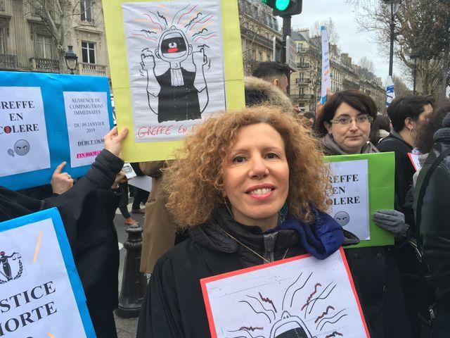 Fadila Taieb, greffière principale au tribunal de grande instance de Paris, à la chambre correctionnelle.