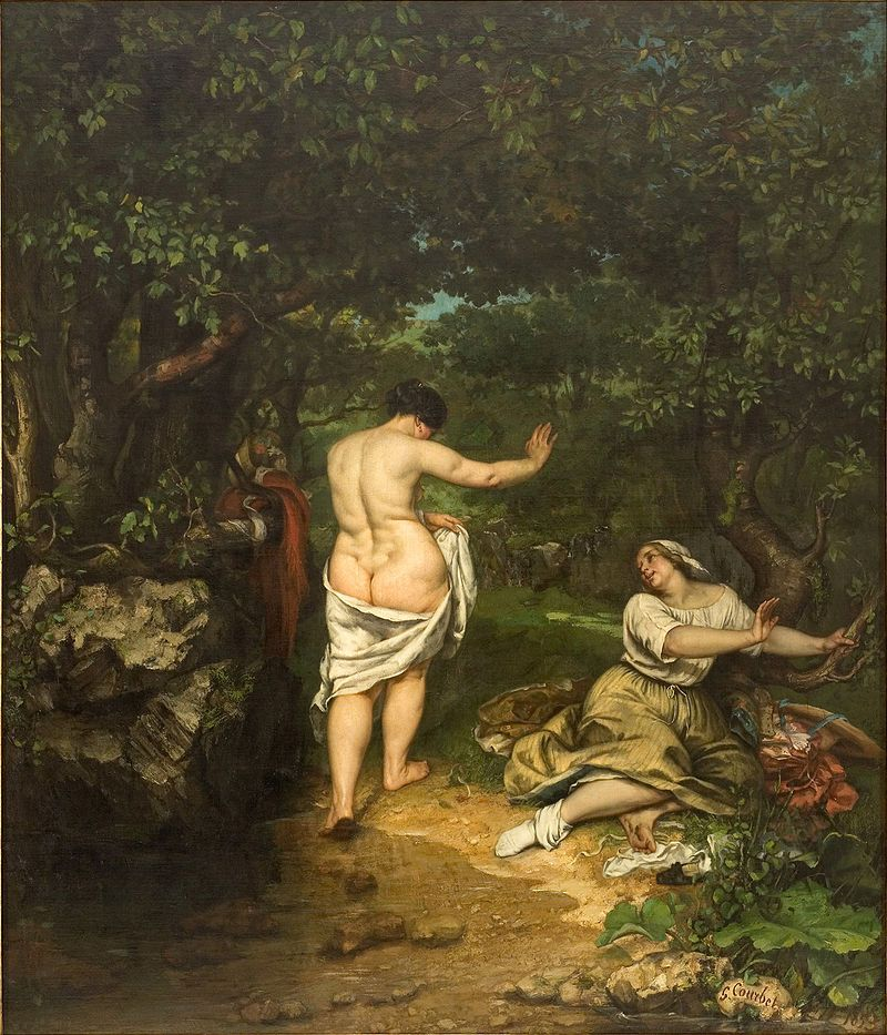 Gustave Courbet - Les baigneuses
