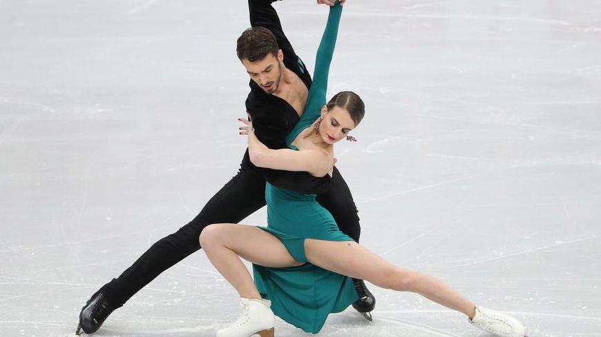 Gabriella Papadakis and Guillaume Cizeron durant le programme court