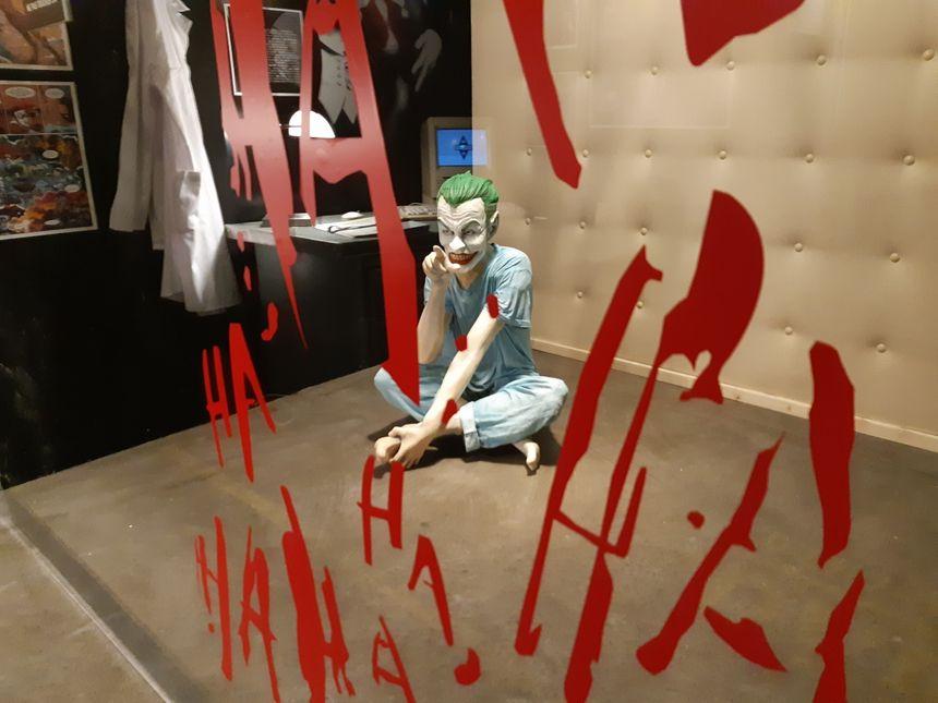 Le Joker à l'exposition Batman à Angoulême.