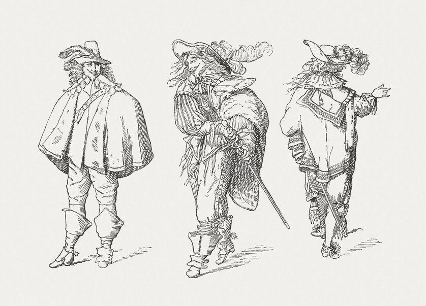 """""""Les Trois Mousquetaires"""" d'après Alexandre Dumas avec Roger Pierre, Jean-Marc Thibault et Robert Lamoureux"""