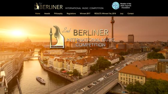 Page d'accueil du Berliner International Music Competition