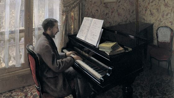 Jeune homme au piano (Martial Caillebotte, 1876) / Musicopolis
