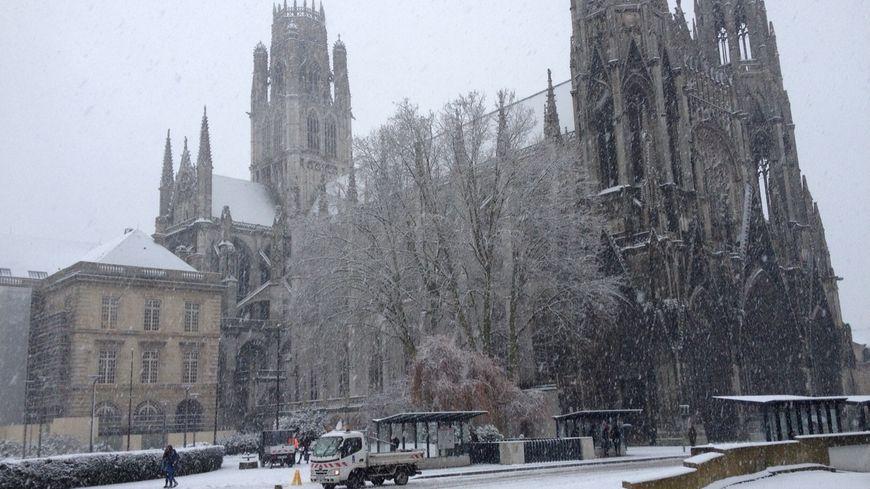 De fortes chutes de neige s'étaient déjà produites à Rouen et partout en Normandie en février 2018.