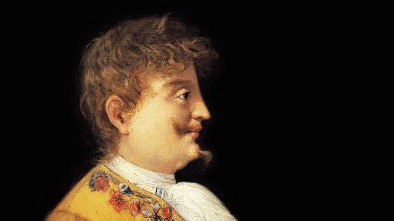 Carlo Gesualdo, portrait peint par Francesco Mancini (détail)