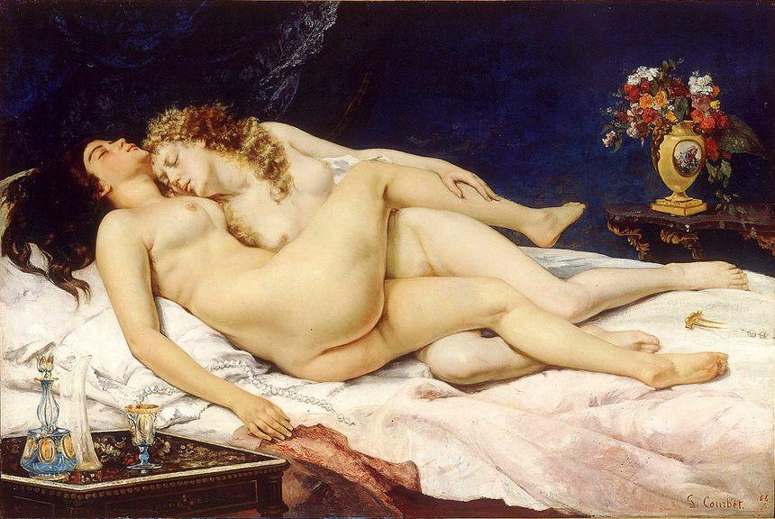 Gustave COURBET - Le sommeil (ou Les deux amies)