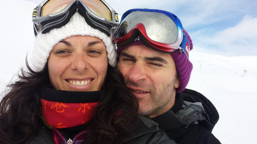 Elodie Ubeda et son mari.