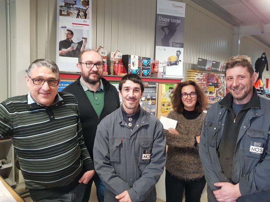 Christelle bonnaud et son équipe composée de Laurent, de Pascal, Fabrice et de David.