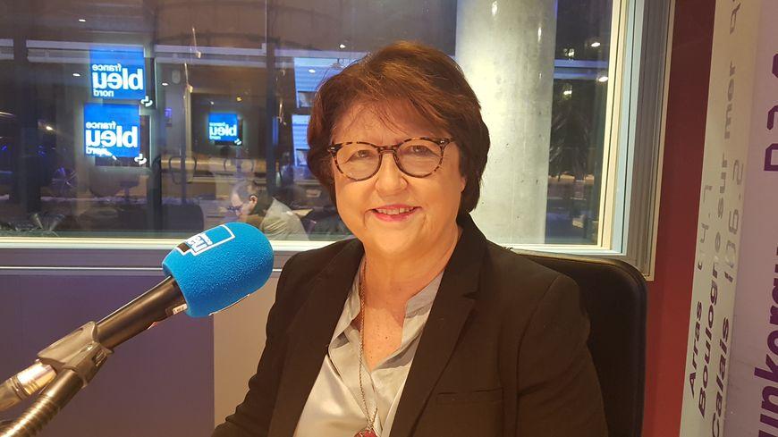 Martine Aubry, dans les locaux de France Bleu Nord, le 25 janvier 2019