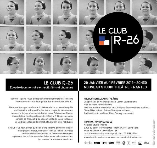 Le Club R-26  Spectacle à Nantes