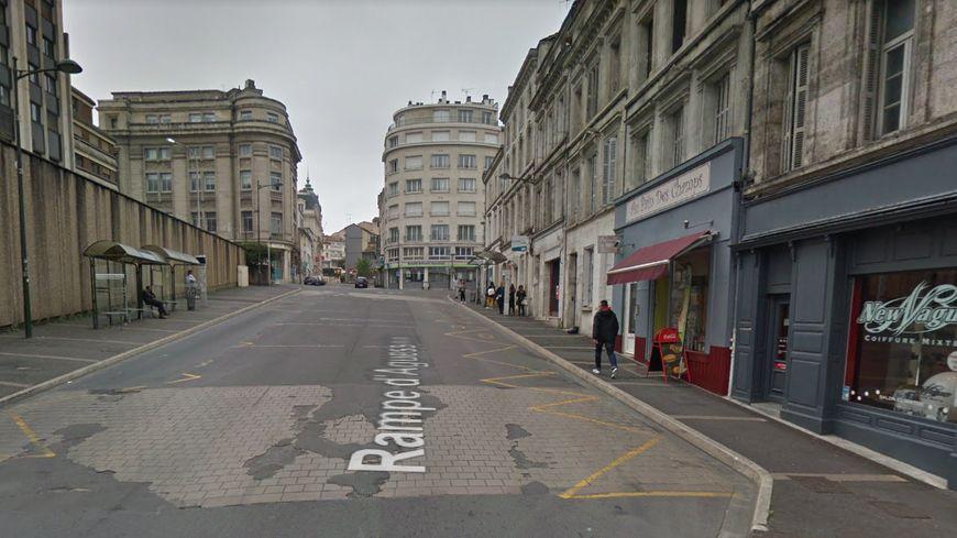 L'incident s'est produit sur la rampe d'Agusseau, dans le centre-ville.