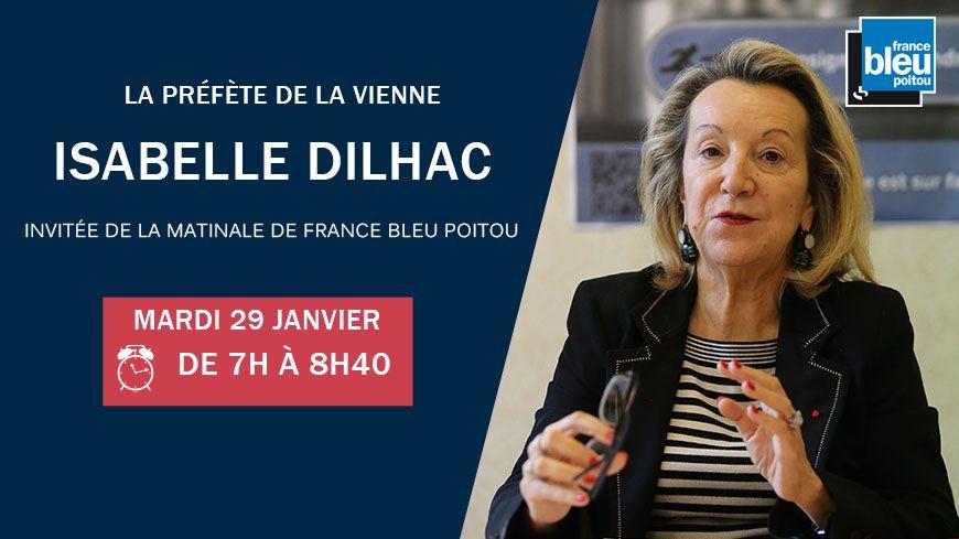 Isabelle DILHAC invitée d'un petit déjeuner spécial sur France Bleu Poitou ce mardi 29 janvier à partir de 7 heures