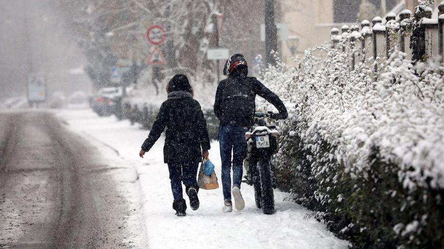 Illustration neige en Ile-de-FRance