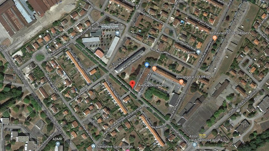 L'explosion s'est produite quartier des Rêpes à Vesoul (capture écran)