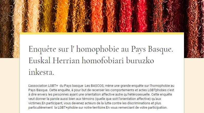 L'enquête de l'association les Bascos