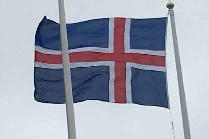 Drapeau de l'Icelande.